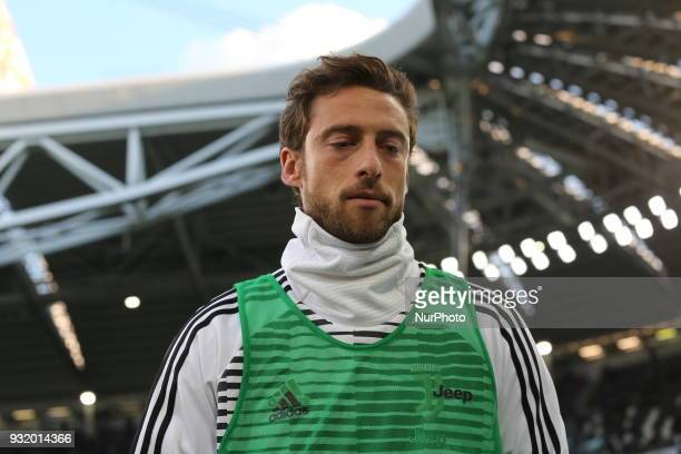Claudio Marchisio before the Serie A football match between Juventus FC and Atalanta BC at Allianz Stadium on 14 March 2018 in Turin Italy Juventus...