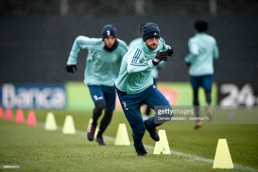 Claudio Marchisio during a Juventus Training Session at Juventus Center Vinovo on December 27, 2017 in Vinovo, Italy.