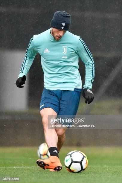 Claudio Marchisio during a Juventus training session at Juventus Center Vinovo on March 15 2018 in Vinovo Italy