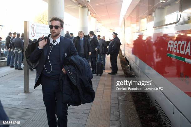 Claudio Marchisio during Juventus Travel to Bologna ahead of the Serie A match versus Bologna FC on December 16 2017 in Bologna Italy