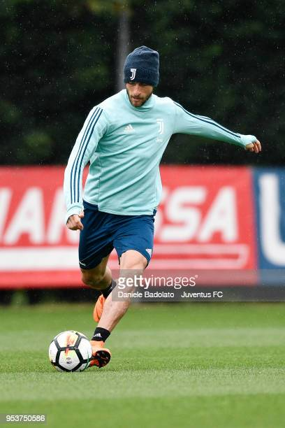 Claudio Marchisio during the Juventus training session at Juventus Center Vinovo on May 2 2018 in Vinovo Italy