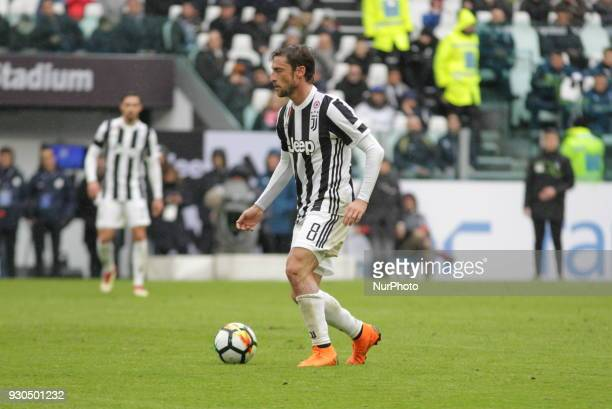Claudio Marchisio during the Serie A football match between Juventus FC and Udinese Calcio at Allianz Stadium on 11 March 2018 in Turin Italy...