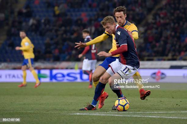 Claudio Marchisio during the Serie A match between Bologna FC and Juventus at Stadio Renato Dall'Ara on December 17 2017 in Bologna Italy