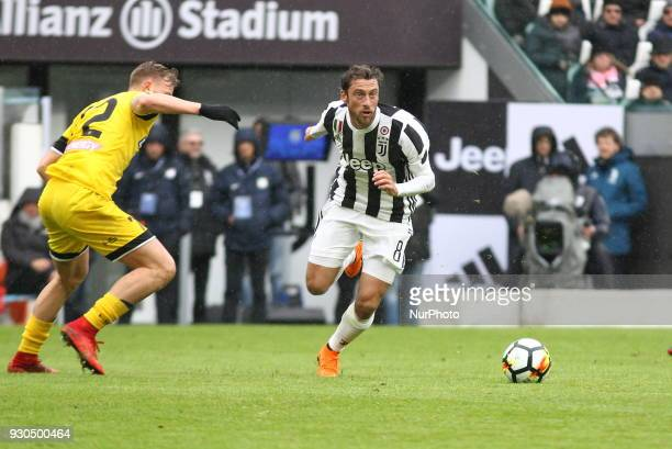 Claudio Marchisio in action during the Serie A football match between Juventus FC and Udinese Calcio at Allianz Stadium on 11 March 2018 in Turin...