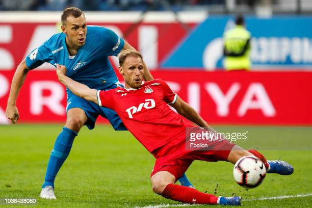 Claudio Marchisio of FC Zenit Saint Petersburg in action during the Russian Premier League match between FC Zenit Saint Petersburg and FC Lokomotiv...