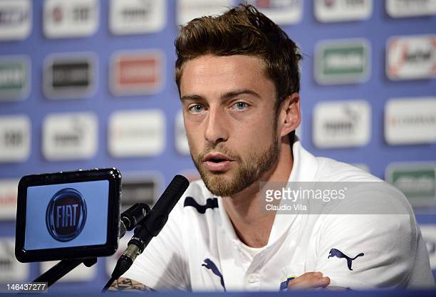 Claudio Marchisio of Italy during a UEFA EURO 2012 press conference at Casa Azzurri on June 16 2012 in Krakow Poland