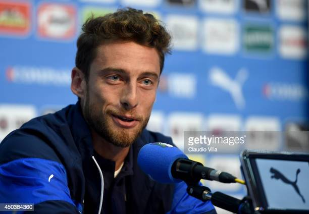 Claudio Marchisio of Italy during press conference on June 10 2014 in Rio de Janeiro Brazil