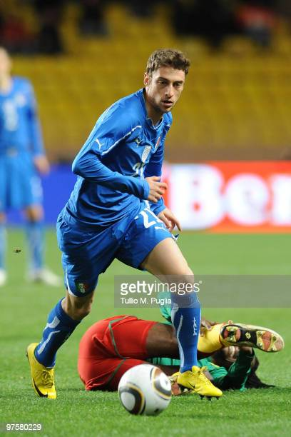 Claudio Marchisio of Italy in action during the International Friendly match between Italy and Cameroon at Louis II Stadium on March 3 2010 in Monaco...