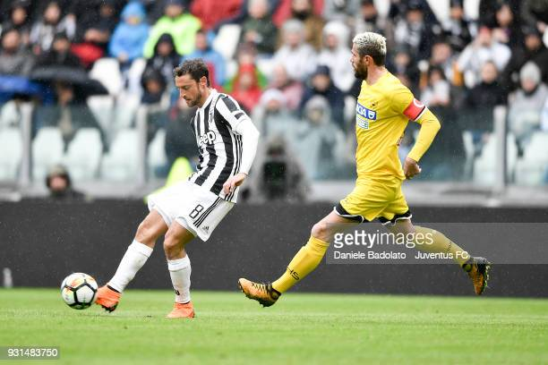 Claudio Marchisio of Juventus during the serie A match between Juventus and Udinese Calcio on March 11 2018 in Turin Italy