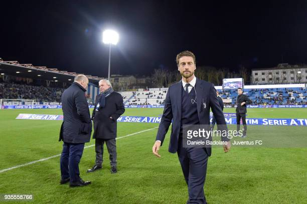 Claudio Marchisio of Juventus during the serie A match between Spal and Juventus at Stadio Paolo Mazza on March 17 2018 in Ferrara Italy