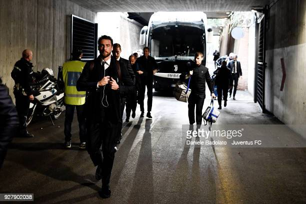 Claudio Marchisio of Juventus during the serie A match between SS Lazio and Juventus at Stadio Olimpico on March 3 2018 in Rome Italy