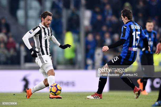 Claudio Marchisio of Juventus during the TIM Cup match between Juventus and Atalanta BC at Allianz Stadium on February 28 2018 in Turin Italy