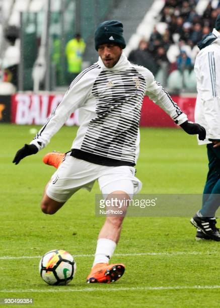 Claudio Marchisio of Juventus during warmup before the serie A match between Juventus and Udinese Calcio on March 11 2018 in Turin Italy