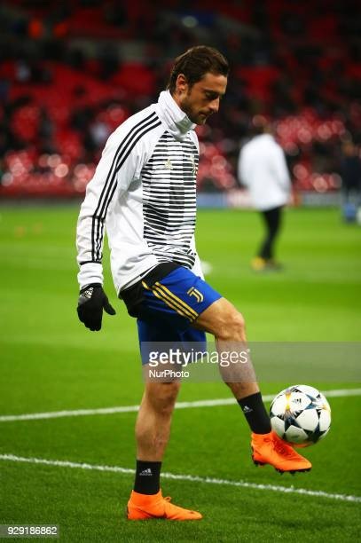Claudio Marchisio of Juventus FC during the prematch warmup during UEFA Champions League Round of 16 2nd Leg match Tottenham Hotspur against Juventus...