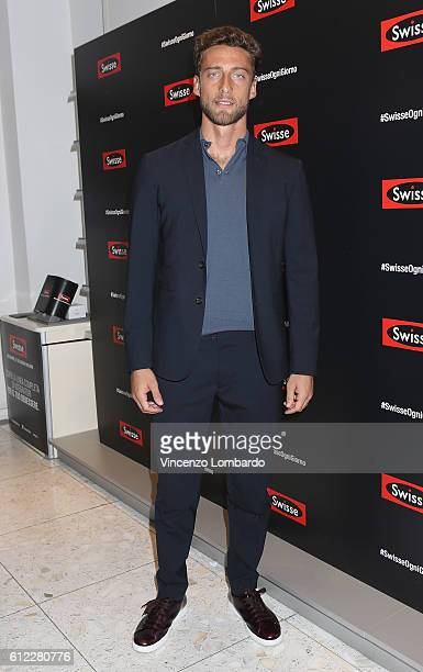 Claudio Marchisio presents 'Swisse' In Milan on October 3 2016 in Milan Italy