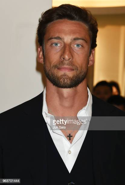 Claudio Marchisio visits the Damiani Ginza flagship store on May 30 2018 in Tokyo Japan