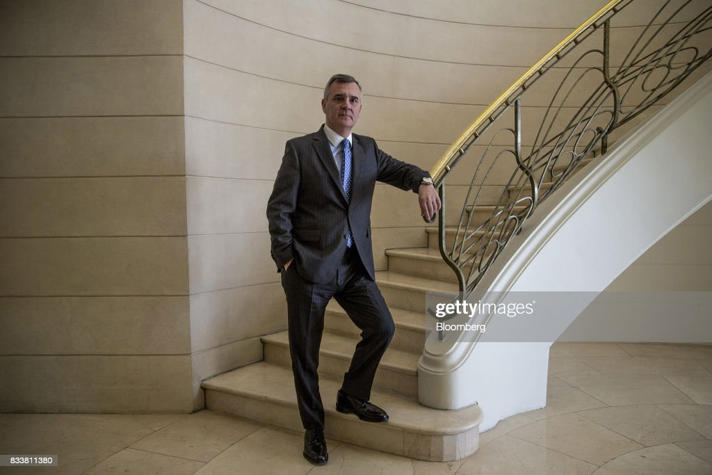 Claudio Melandri, chief executive officer of Banco Santander Chile, stands for a photograph before an interview in Santiago, Chile, on Wednesday, Aug. 16, 2017. Banco Santander Chile is the largest bank in the region in terms of total assets and equity. Photographer: Cristobal Olivares/Bloomberg via Getty Images
