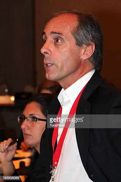 Claudio Morresi looks on during the presentation of the XV Gimnasiada 2013 as part of XIX Sports Minister of America and Iberoamerica Meeting...