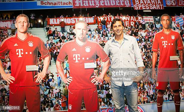 Claudio Pizarro attends the FC Bayern Erlebniswelt Opening Ceremony at Allianz Arena on August 1 2012 in Munich Germany