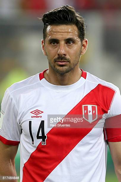 Claudio Pizarro of Peru looks on before a match between Peru and Venezuela as part of FIFA 2018 World Cup Qualifiers at Nacional Stadium on March 24...