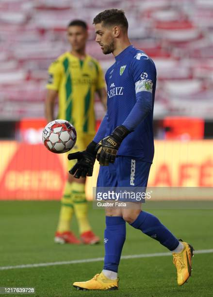 Claudio Ramos of CD Tondela in action during the Liga NOS match between SL Benfica and CD Tondela at Estadio da Luz on June 4 2020 in Lisbon Portugal