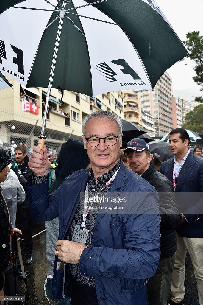 Claudio Ranieri attends the F1 Grand Prix of Monaco on May 29, 2016 in Monte-Carlo, Monaco on May 29, 2016 in Monte-Carlo, Monaco.