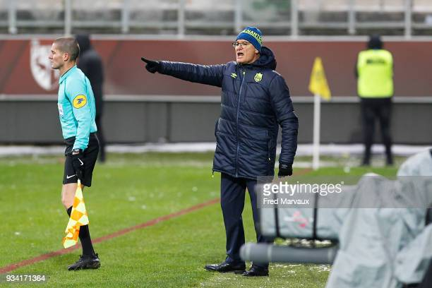 Claudio Ranieri coach of Nantes during the Ligue 1 match between Metz and Nantes at on March 18 2018 in Metz