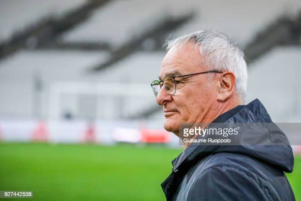Claudio Ranieri coach of Nantes during the Ligue 1 match between Olympique Marseille and Nantes at Stade Velodrome on March 4 2018 in Marseille