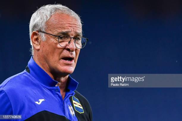 Claudio Ranieri, coach of Sampdoria before the Serie A match between UC Sampdoria and Genoa CFC at Stadio Luigi Ferraris on July 22, 2020 in Genoa,...