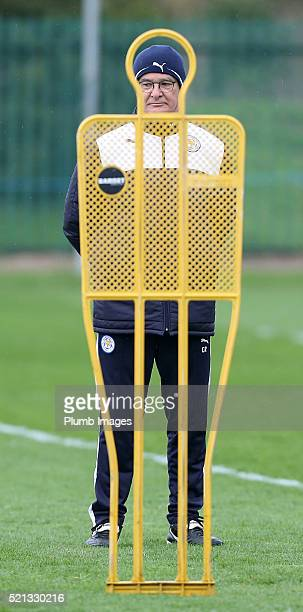 Claudio Ranieri during the Leicester City training session at Belvoir Drive Training Complex on April 15 , 2016 in Leicester, United Kingdom.