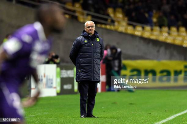 Claudio Ranieri Head coach of Nantes during the Ligue 1 match between Nantes and Toulouse at Stade de la Beaujoire on November 4 2017 in Nantes
