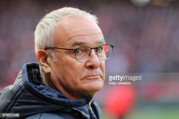 Claudio Ranieri Head coach of Nantes during the Ligue 1 match between Stade Rennais and Nantes at Roazhon Park on November 25 2017 in Rennes