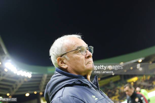 Claudio Ranieri Head coach of Nantes during the Ligue 1 match between FC Nantes and AS Monaco at Stade de la Beaujoire on November 29 2017 in Nantes