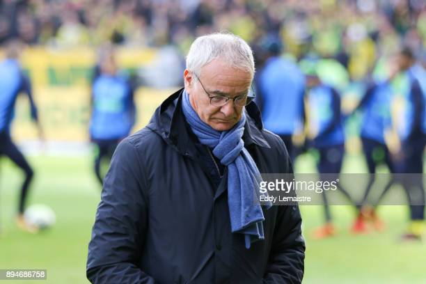 Claudio Ranieri Head coach of Nantes during the Ligue 1 match between Nantes and Angers SCO at Stade de la Beaujoire on December 17 2017 in Nantes