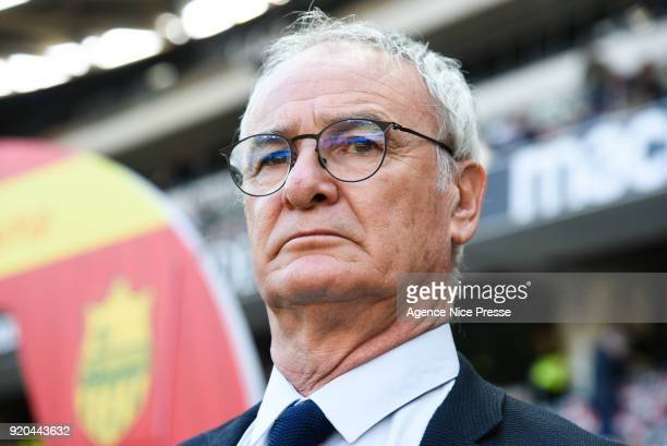 Claudio Ranieri head coach of Nantes during the Ligue 1 match between OGC Nice and Nantes at Allianz Riviera on February 18 2018 in Nice