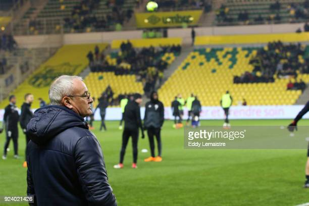 Claudio Ranieri Head coach of Nantes during the Ligue 1 match between Nantes and Amiens SC at Stade de la Beaujoire on February 24 2018 in Nantes