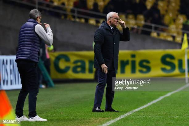 Claudio Ranieri Head coach of Nantes during the Ligue 1 match between Nantes and Troyes AC at Stade de la Beaujoire on March 10 2018 in Nantes