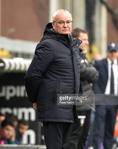 Claudio Ranieri head coach of UC Sampdoria during the Serie A match between UC Sampdoria and ACF Fiorentina at Stadio Luigi Ferraris on February 16...