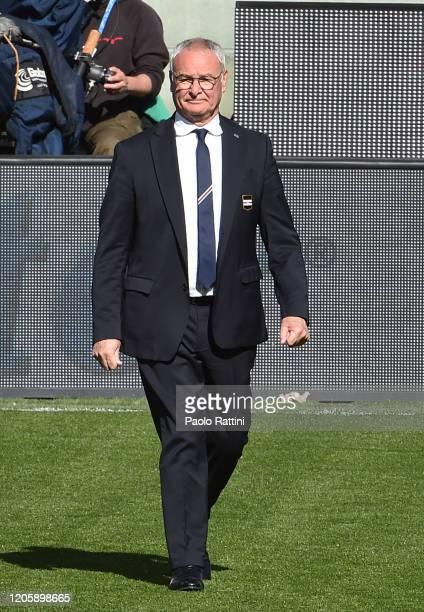 Claudio Ranieri head coach of UC Sampdoria during the Serie A match between UC Sampdoria and Hellas Verona at Stadio Luigi Ferraris on March 8 2020...