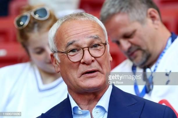 Claudio Ranieri looks on prior to the UEFA Champions League Final between Tottenham Hotspur and Liverpool at Estadio Wanda Metropolitano on June 01,...