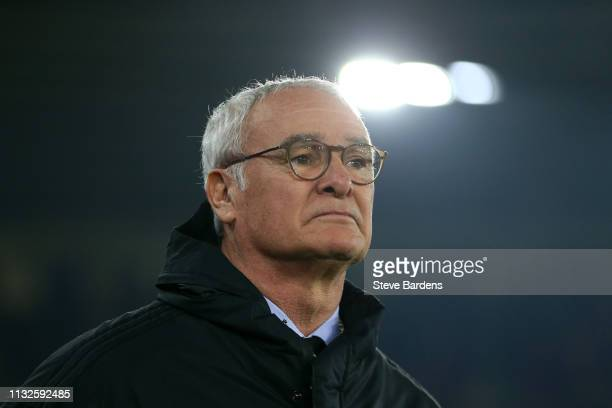 Claudio Ranieri Manager of Fulham during the Premier League match between Southampton FC and Fulham FC at St Mary's Stadium on February 27 2019 in...