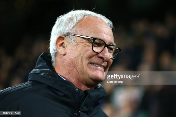 Claudio Ranieri Manager of Fulham reacts prior to the Premier League match between Fulham FC and Leicester City at Craven Cottage on December 5 2018...