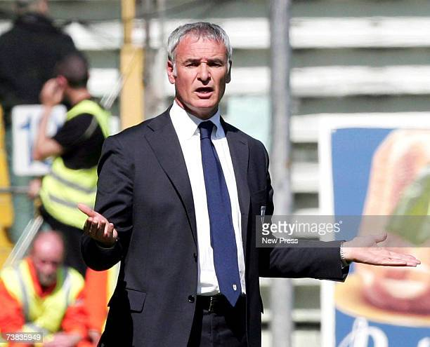 Claudio Ranieri manager of Parma gestures during the Serie A match between Parma and Livorno at the Stadio Ennio Tardini on April 7 2007 in Parma...