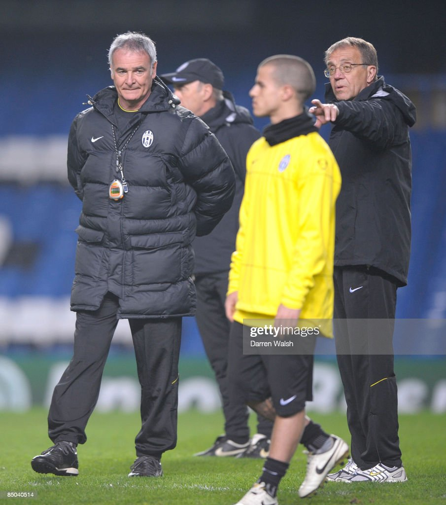 Chelsea & Juventus Training & Press Conference : News Photo