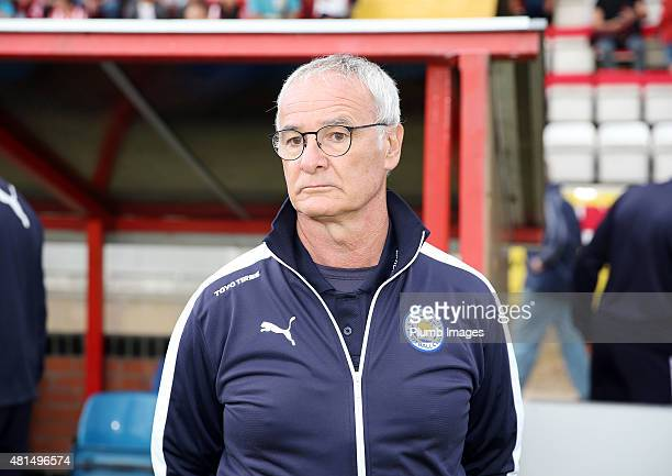 Claudio Ranieri of Leicester City ahead of the preseason friendly between Lincoln City and Leicester City at Sincil Bank Stadium on July 21 2015 in...