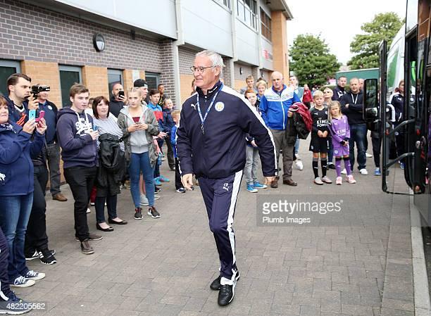 Claudio Ranieri of Leicester City arrives at Pirelli Stadium ahead of the pre-season friendly between Burton Albion and Leicester City at Pirelli...