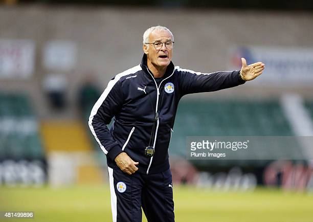 Claudio Ranieri of Leicester city during the preseason friendly between Lincoln City and Leicester City at Sincil Bank Stadium on July 21 2015 in...