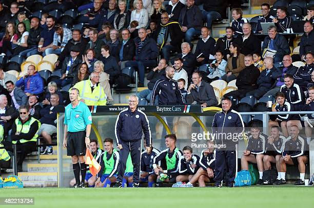 Claudio Ranieri of Leicester city during the preseason friendly between Burton Albion and Leicester City at Pirelli Stadium on July 28 2015 in...
