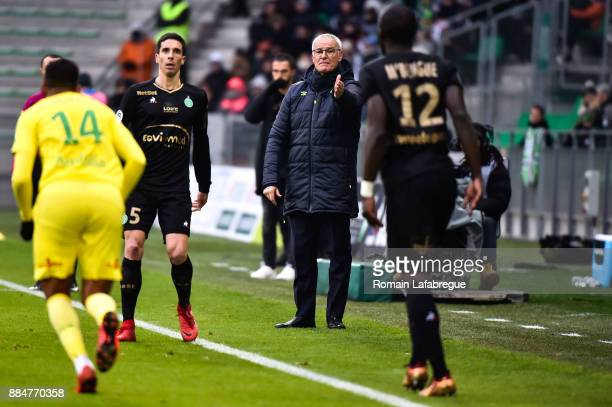 Claudio Ranieri of Nantes during the Ligue 1 match between AS Saint Etienne and Nantes at Stade GeoffroyGuichard on December 3 2017 in SaintEtienne