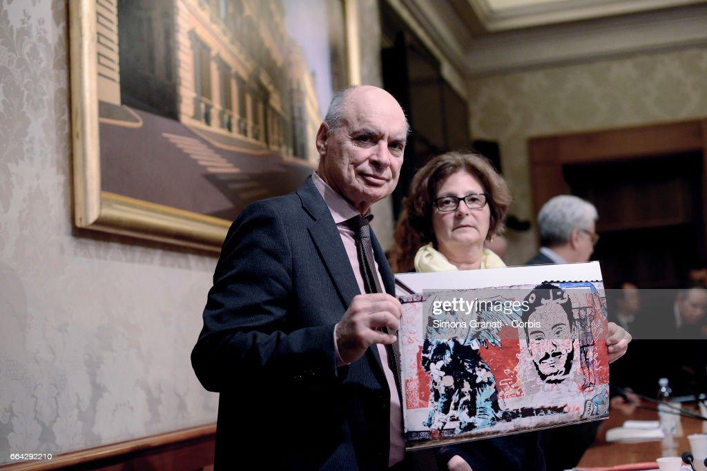 """""""Truth for Giulio Regeni"""" Press Conference Held In The Senate : News Photo"""